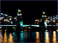 Художественная подсветка Большеохтинского моста