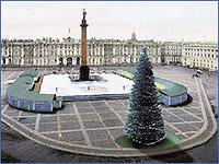 Общественный каток на Дворцовой площади