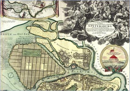 Карта Петербурга 18 век
